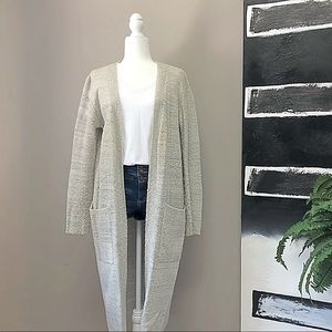 Forever 21 Gray Wool Cardigan Duster Size L